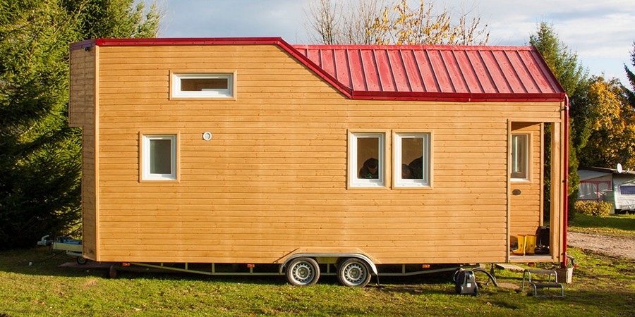 mobiles minihaus rolling tiny house immofux. Black Bedroom Furniture Sets. Home Design Ideas